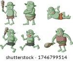 Set Of Dark Green Goblin Or...