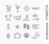 summer set icons. vector eps8 | Shutterstock .eps vector #174687731
