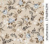 grey small vector flowers with... | Shutterstock .eps vector #1746896294
