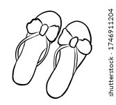 Doodle Flip Flops. Summer Beach ...