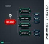 organizational chart template.... | Shutterstock .eps vector #174691514
