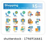 shopping and e commerce icons...