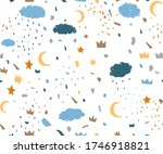 Terrazzo Baby Boy Cloud Sky...