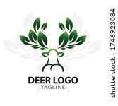 logos with animal and leaf... | Shutterstock .eps vector #1746923084
