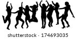 vector silhouettes of people...   Shutterstock .eps vector #174693035