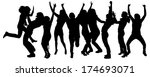 vector silhouettes of people... | Shutterstock .eps vector #174693071