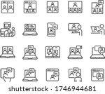 set of online meeting icons ... | Shutterstock .eps vector #1746944681