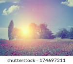 retro summer scene | Shutterstock . vector #174697211