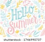 hello summer lettering design...   Shutterstock .eps vector #1746990737