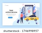 online taxi service  car... | Shutterstock .eps vector #1746998957