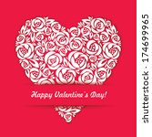 happy valentine day card with... | Shutterstock .eps vector #174699965