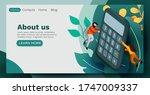 people flying around big...   Shutterstock .eps vector #1747009337