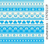 seamless winter sweater pattern ... | Shutterstock .eps vector #174702119