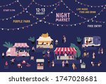 banner of night market with... | Shutterstock .eps vector #1747028681
