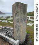 "Small photo of South Georgia, Grytviken, December 18, 2019: Grave of Sir Ernest Shackleton in ""Grytviken"" on South Georgia."