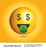 high quality emoticon on yellow ... | Shutterstock .eps vector #1747037777