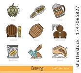 set of all steps of brewing...