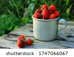 Fresh Strawberries In The Cup...