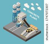concrete cement production... | Shutterstock .eps vector #1747072307
