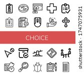 set of choice icons. such as... | Shutterstock .eps vector #1747075931