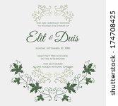 wedding invitation card | Shutterstock .eps vector #174708425