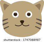 cute cat clipart. cute cat... | Shutterstock .eps vector #1747088987