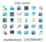 modern simple set of disk...