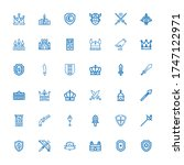Editable 36 Medieval Icons For...
