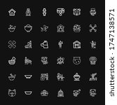 editable 36 puppy icons for web ... | Shutterstock .eps vector #1747138571