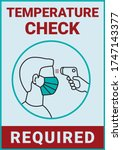 temperature check is required... | Shutterstock .eps vector #1747143377