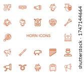 editable 22 horn icons for web... | Shutterstock .eps vector #1747144664