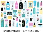 vector set of isolated cosmetic ... | Shutterstock .eps vector #1747153187
