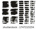 flat paint brush thin short... | Shutterstock .eps vector #1747215254