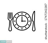 plate with knife and fork with...