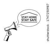 stay home stay safe  ... | Shutterstock .eps vector #1747250987