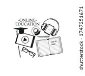 online education and study. web ... | Shutterstock .eps vector #1747251671