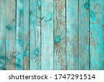 Weathered Blue Wooden...
