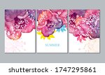 home decor of the walls. floral ... | Shutterstock .eps vector #1747295861