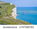 Beachy Head And Light House In...