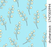 Pattern Of Willow Twigs On A...