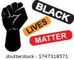 black lives matter icon on...   Shutterstock .eps vector #1747318571