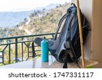 picture of trecking bagpack and ... | Shutterstock . vector #1747331117