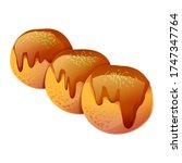 takoyaki cartoon illustration... | Shutterstock .eps vector #1747347764