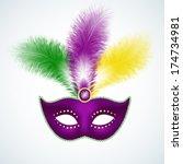 Mardi Gras Mask Isolated On...