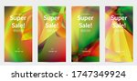 abstract irregular polygonal... | Shutterstock .eps vector #1747349924