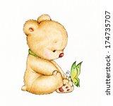 Cute Teddy Bear With Butterfly