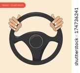 steering wheel over background... | Shutterstock .eps vector #174736241