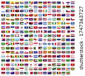 287 country flag with names... | Shutterstock .eps vector #1747363727