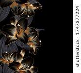 vintage elegant luxury gold... | Shutterstock .eps vector #1747377224