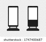 digital stand signage light box.... | Shutterstock .eps vector #1747400687